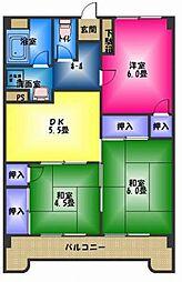 仁栄マンションI[1階]の間取り