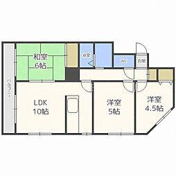 フジトシマンション[4階]の間取り