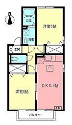 エテルナコートA[1階]の間取り