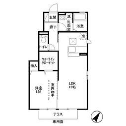 ラフォーレ A[1階]の間取り
