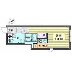OIKOS東山 4階1Kの間取り