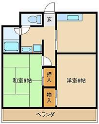 リバティ武庫之荘[1階]の間取り