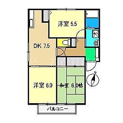 アメニティー21 C棟[1階]の間取り