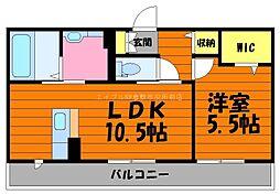 岡山県倉敷市白楽町丁目なしの賃貸アパートの間取り