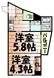 ノースステイツ浅生[304号室]の間取り