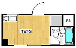 菅栄町レディースマンション[1階]の間取り