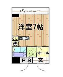 カイセイマンション[8階]の間取り