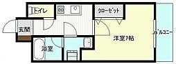 宮崎県宮崎市船塚2丁目の賃貸マンションの間取り