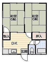 吉浜荘[101号室]の間取り