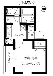 東京都中野区南台5丁目の賃貸マンションの間取り