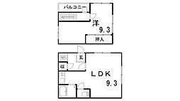 板宿テラス[1階]の間取り