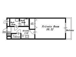 WING HOUSE[2階]の間取り