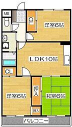 ハーモニアグレース2[3階]の間取り