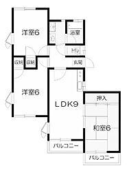 アルタハウス[2階]の間取り