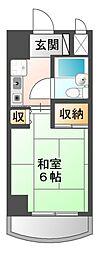 露橋ロイヤルハイツI[5階]の間取り