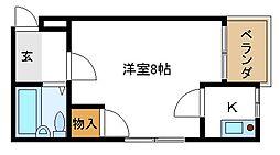 プレステージ24階Fの間取り画像
