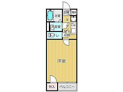 JR鹿児島本線 折尾駅 バス23分 本城学研台3丁目下車 徒歩5分の賃貸アパート 1階1Kの間取り