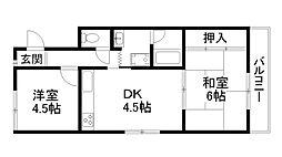 ルミナス桂川[2階]の間取り