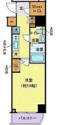 都営三田線 西巣鴨駅 徒歩8分の賃貸マンション 6階1Kの間取り