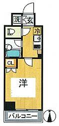 ルーブル多摩川七番館 bt[409kk号室]の間取り