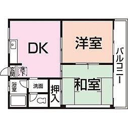 コスモハイツYOU[205号室]の間取り