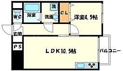 ターミナルルーエ[3階]の間取り