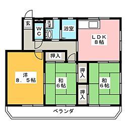 本多マンション駅西[2階]の間取り