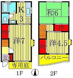 [テラスハウス] 千葉県柏市豊四季 の賃貸【/】の間取り