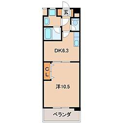 U−Buil黒田[7階]の間取り