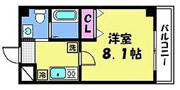 仮)梅津神田町共同住宅 5階1Kの間取り