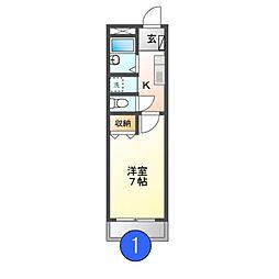 マウンティン本郷[3階]の間取り