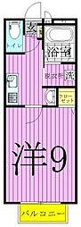 東京都足立区西新井6丁目の賃貸アパートの間取り