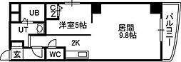 札幌市営東西線 バスセンター前駅 徒歩3分の賃貸マンション 3階1LDKの間取り