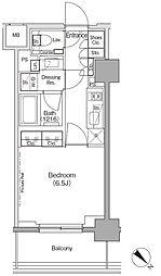 東京メトロ有楽町線 月島駅 徒歩1分の賃貸マンション 2階1Kの間取り