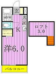 千葉県野田市堤根の賃貸アパートの間取り