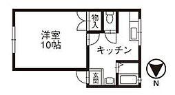 石川県金沢市新保本3丁目の賃貸アパートの間取り