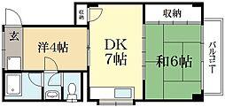 マンション有雅[1階]の間取り