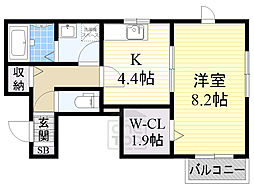 Osaka Metro谷町線 都島駅 徒歩5分の賃貸マンション 1階1Kの間取り