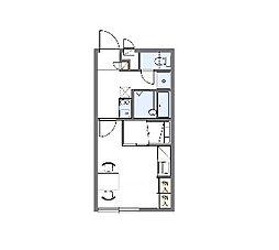 レイクサイド[1階]の間取り