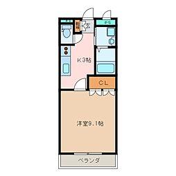 三重県松阪市嬉野中川新町2丁目の賃貸アパートの間取り