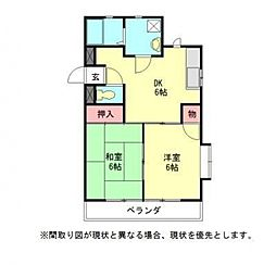愛知県一宮市平和3丁目の賃貸マンションの間取り