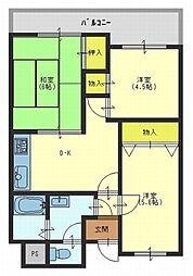 グリーンコートマンション[5階]の間取り