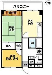 ハイツアオキ第12 bt[504kk号室]の間取り