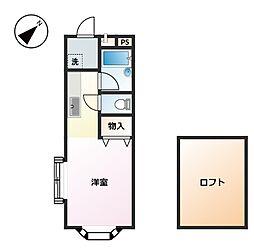 ペピタ桂[2階]の間取り