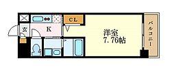 ArtizA東別院 3階1Kの間取り