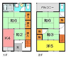 [テラスハウス] 兵庫県尼崎市下坂部1丁目 の賃貸【/】の間取り