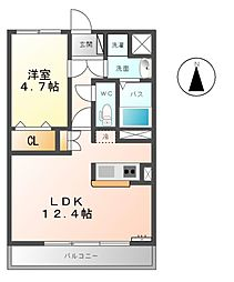 Casa Duo South North[2階]の間取り