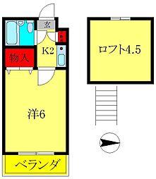 ジュネパレス新松戸第13[1階]の間取り