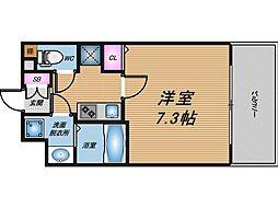 大阪府大阪市中央区内久宝寺町3丁目の賃貸マンションの間取り