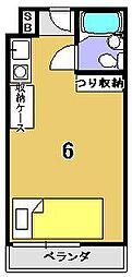 紫竹学生専用マンション コート紫竹[201号室]の間取り